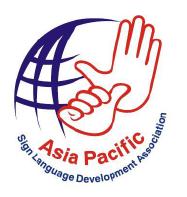 Asia Pacific Sign Language Development Association Logo